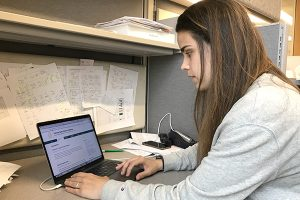Postdoctoral researcher Carla Alamillo Ferrer, Ph.D., uploads her lab data biweekly to the SGC Extreme Open Science website.